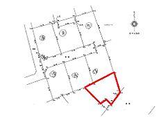 区画図です。敷地面積は約61坪ございます。