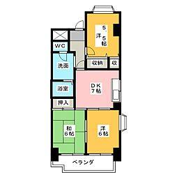 大宮セントラルマンション[3階]の間取り