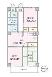 神奈川県川崎市中原区上小田中4丁目の賃貸マンションの間取り
