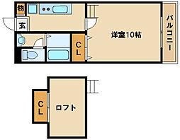 神戸市西神・山手線 伊川谷駅 徒歩2分の賃貸アパート 3階1Kの間取り