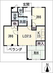 センプレカトウ[2階]の間取り