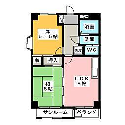 アーク302[4階]の間取り