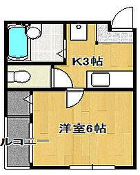 SUN FLOWER・アムール[2階]の間取り