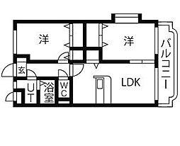 茨城県筑西市市野辺の賃貸マンションの間取り