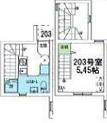 東急東横線 学芸大学駅 徒歩12分の賃貸マンション 1階1Kの間取り