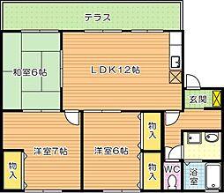プリシェール浅川 B棟[1階]の間取り