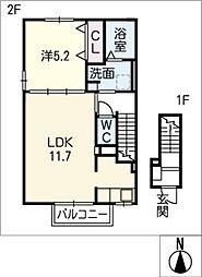 エスポワール II[2階]の間取り