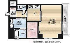 広島電鉄2系統 猿猴橋町駅 徒歩11分の賃貸マンション 5階1Kの間取り