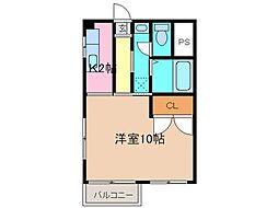 徳島県徳島市北矢三町4丁目の賃貸マンションの間取り