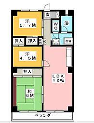 サン80湘南台[5階]の間取り