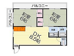 大阪府和泉市幸3の賃貸マンションの間取り