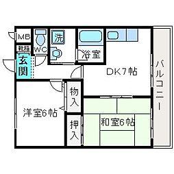 メゾン高木[2階]の間取り