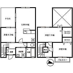[テラスハウス] 大阪府堺市中区東八田 の賃貸【/】の間取り