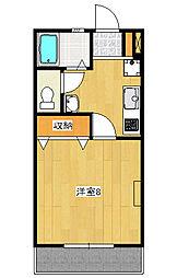 ルベール60[2階]の間取り