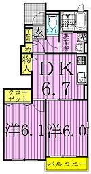 サンファミリー[B103号室]の間取り