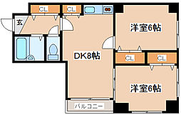 兵庫県神戸市須磨区戎町3丁目の賃貸マンションの間取り