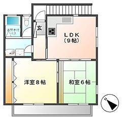 サンコーポ茂沢[2階]の間取り
