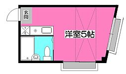 埼玉県所沢市有楽町の賃貸マンションの間取り