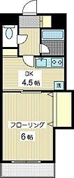 シャトーKSE[1階]の間取り