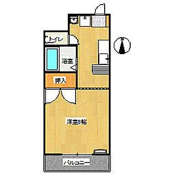 岡山県岡山市中区中井1丁目の賃貸マンションの間取り