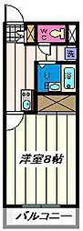 埼玉県さいたま市岩槻区美幸町の賃貸マンションの間取り