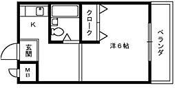 大阪府泉大津市昭和町の賃貸マンションの間取り