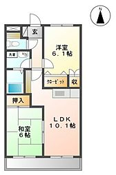 コンフィデンスII[2階]の間取り