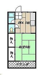 ライフピュア大浦[105号室]の間取り