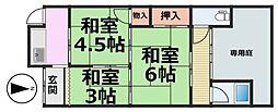 [テラスハウス] 兵庫県尼崎市西川2丁目 の賃貸【/】の間取り
