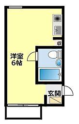 愛知県豊田市田中町4丁目の賃貸アパートの間取り