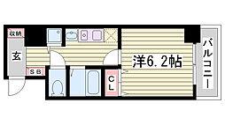 スワンズ神戸三宮イースト[7階]の間取り