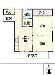 コーポユーカリ[1階]の間取り