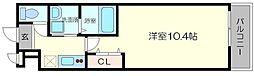 阪急宝塚本線 服部天神駅 徒歩11分の賃貸アパート 1階1Kの間取り