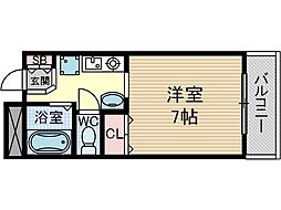 アンソレイエ・シャンブル[2階]の間取り
