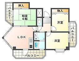 ル・パレ須磨[3階]の間取り