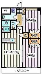 埼玉県さいたま市南区内谷5丁目の賃貸マンションの間取り