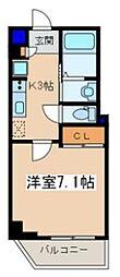 メゾン青空東戸塚[602号室]の間取り