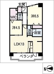 テラッツァ白壁[4階]の間取り