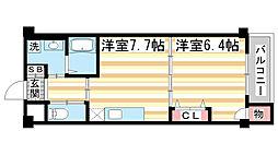 兵庫県神戸市兵庫区鵯越町の賃貸マンションの間取り