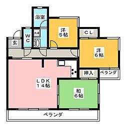 シャトレベール元町[2階]の間取り