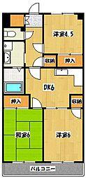 植竹マンション[3階]の間取り