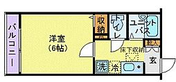 JR総武線 阿佐ヶ谷駅 徒歩9分の賃貸アパート 1階1Kの間取り