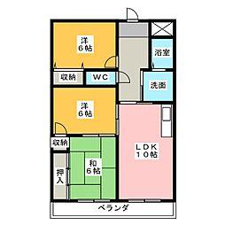 6清邦ビル[3階]の間取り