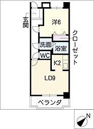 レスポワールIII[4階]の間取り