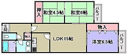 北助松マンション[401号室]の間取り
