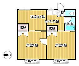 ハイツイーハトーブIII[1階]の間取り