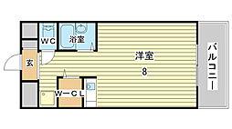 土井ハイツ北条口[301号室]の間取り