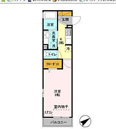 VILLETTA TOKYO BAY[2階]の間取り