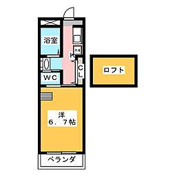 ノイハウスII[2階]の間取り