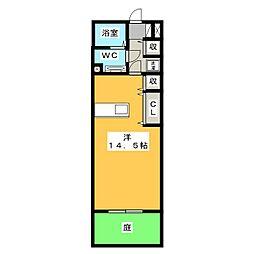アンティエーヌモナリエ B[2階]の間取り